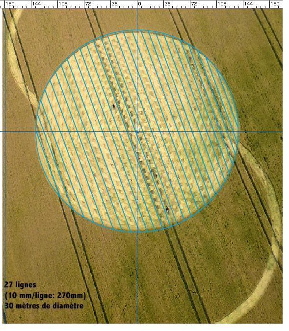 Crop circle de East Field, Nr Alton Barnes, Wiltshire. Le 14.07.09 00216