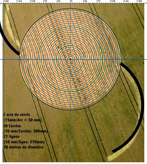 Crop circle de East Field, Nr Alton Barnes, Wiltshire. Le 14.07.09 00312