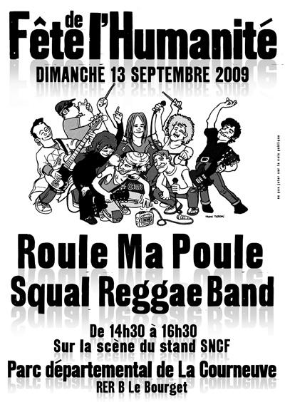 ROULE MA POULE & LE SQUAL REGGAE BAND en concert à la fête de L'Huma Flyfet11