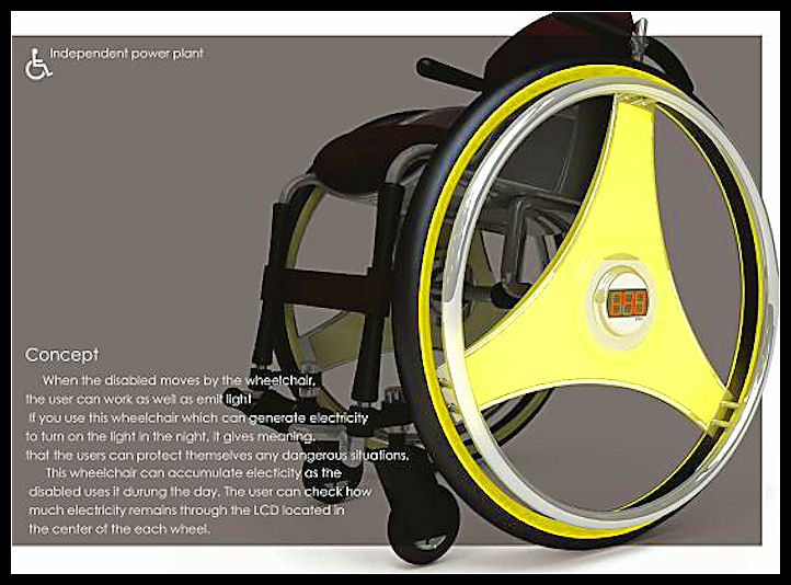 Self-powered wheelchair produces electricity 319