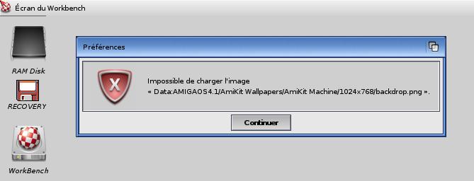 essais emulation OS 4.1 sous winuea 64 00310