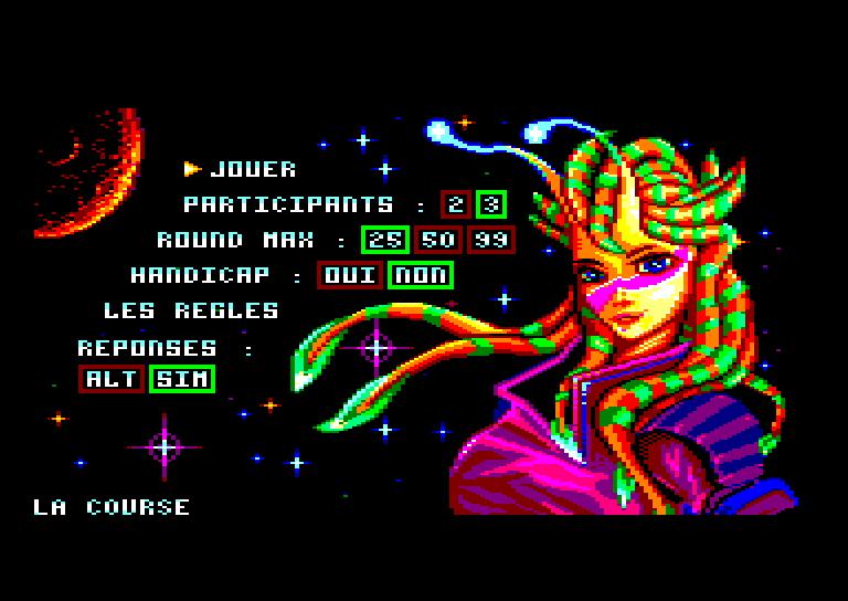 SPACE RACE pour Amstrad CPC 0510
