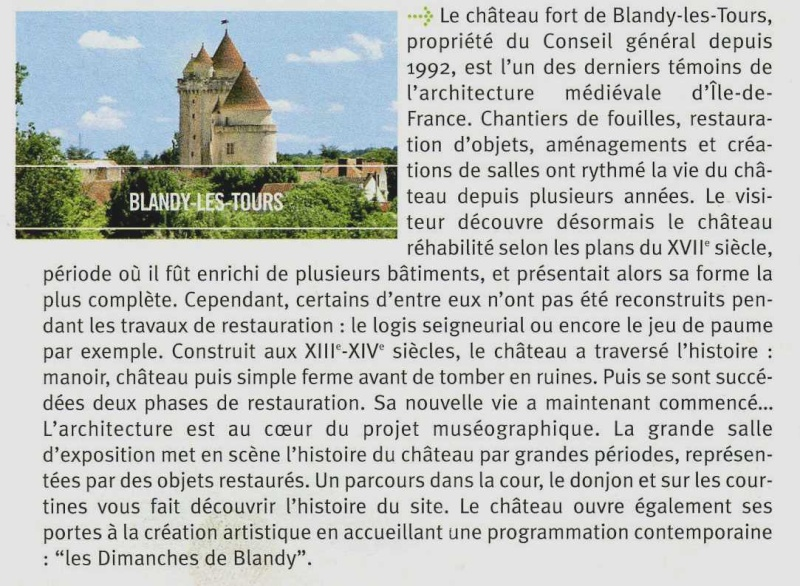 Randonnée des 3 châteaux en Sud Seine et Marne - Page 2 Blandy10