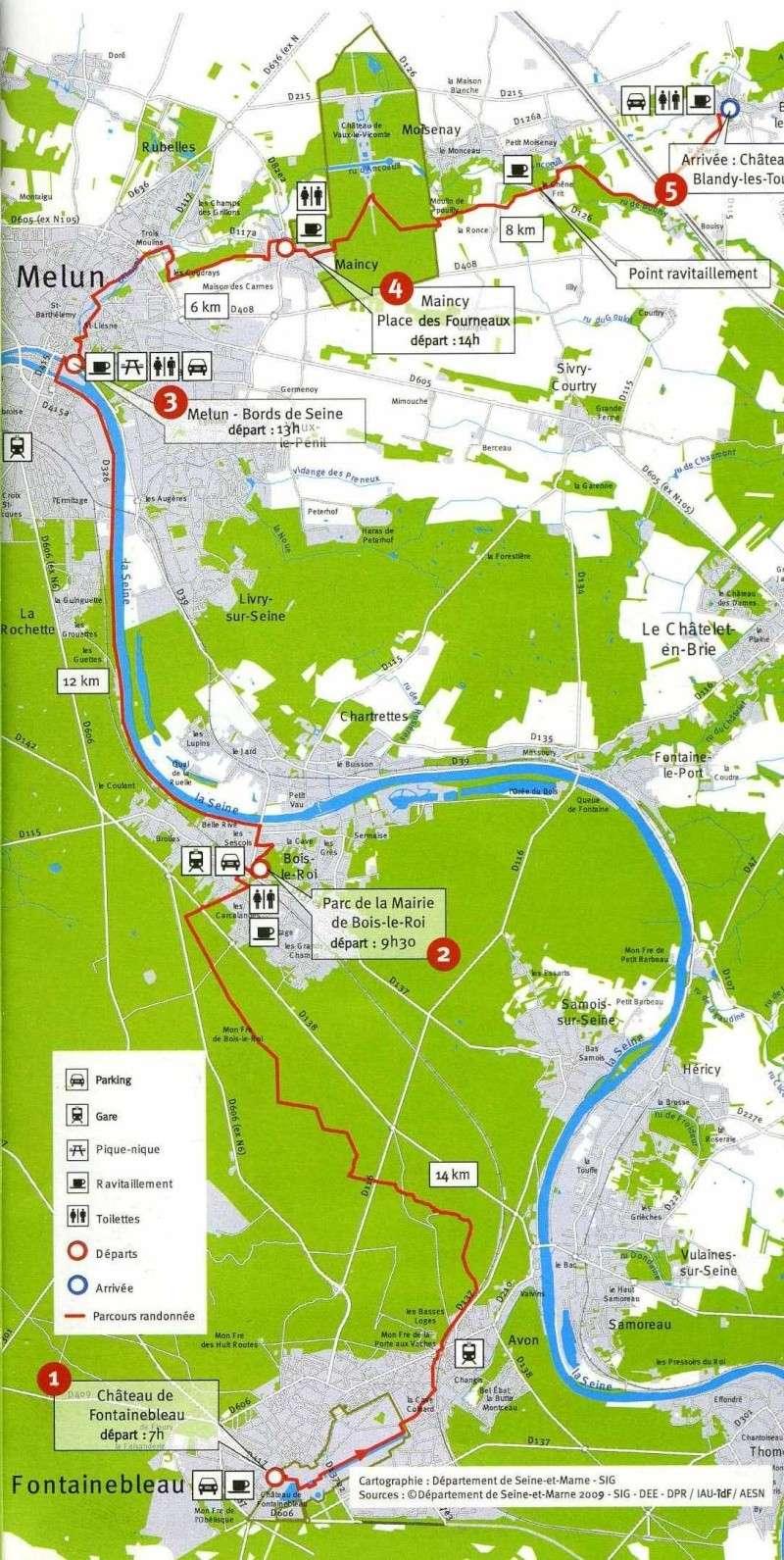 Randonnée des 3 châteaux en Sud Seine et Marne Carte_10