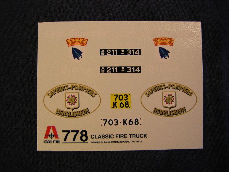 """Opel Blitz Firetruck 1:24 """"Fertig"""" 00813"""