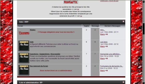 Formulaires divers pour ce forum Screen13