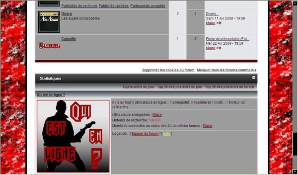 Formulaires divers pour ce forum Screen14