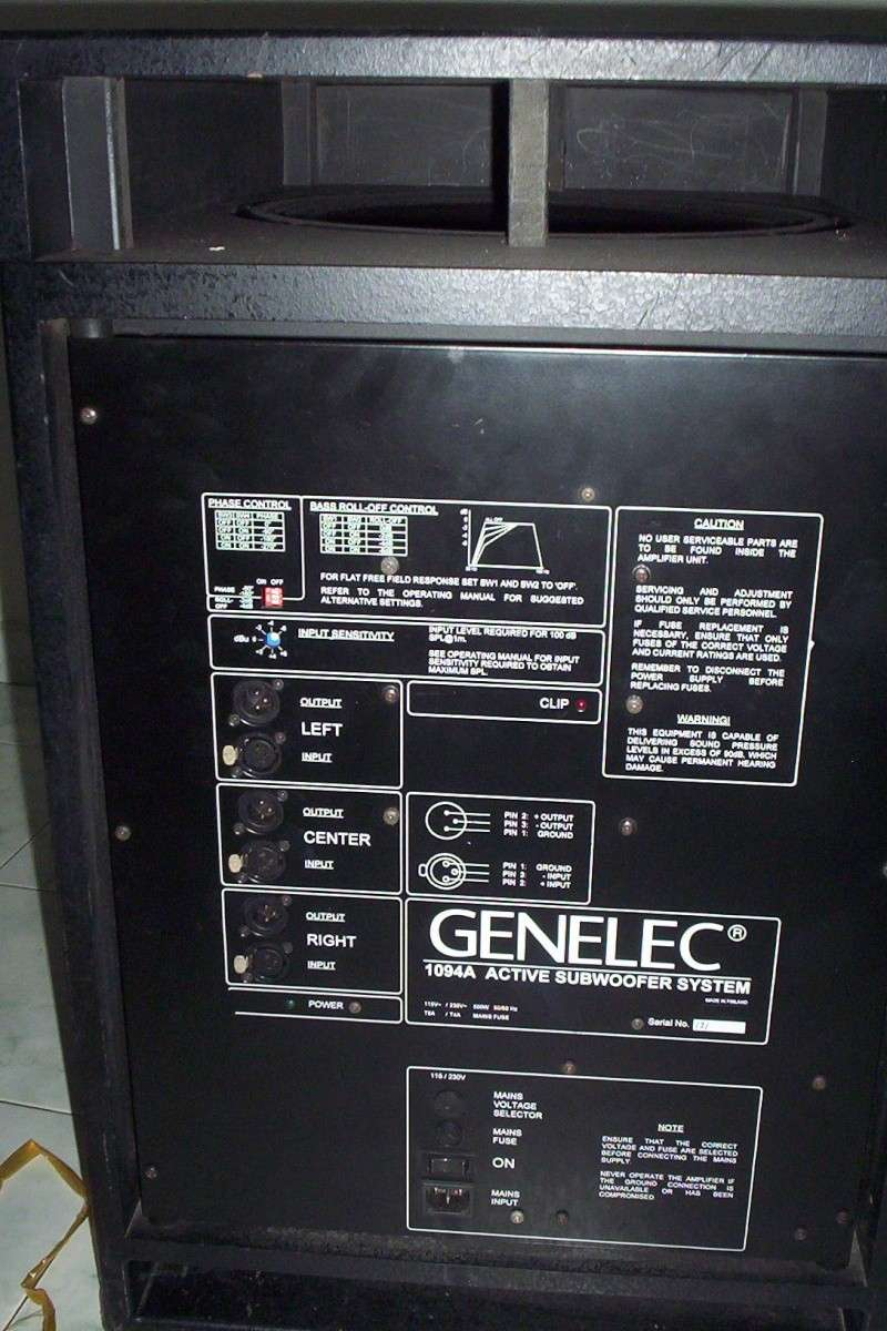 Genelec 1094A subwoofer (Used) 100_5915