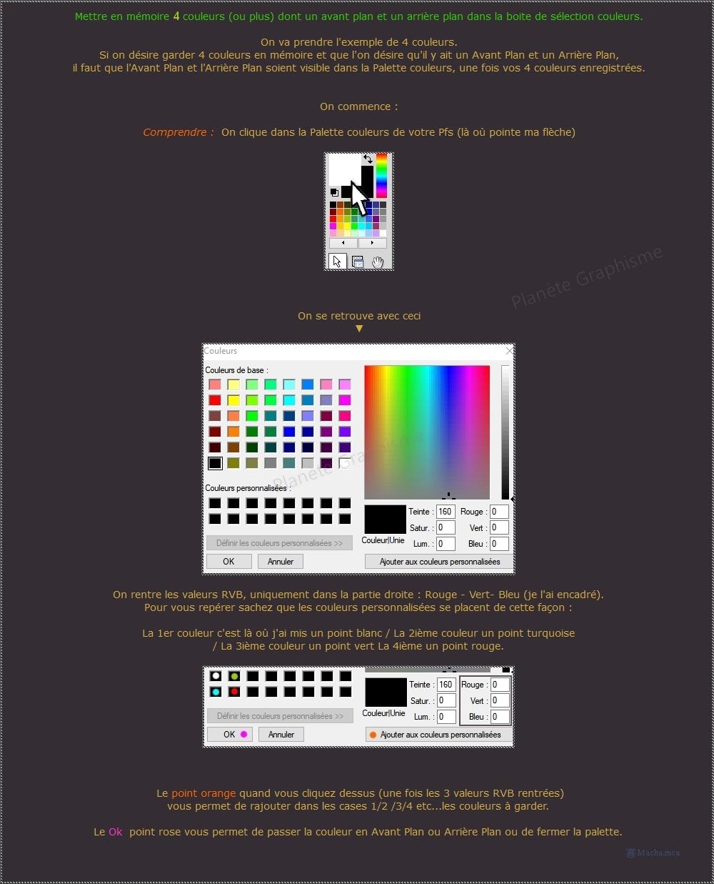 """Mettre en mémoire 4 couleurs """"Photofiltre"""" 4_coul11"""