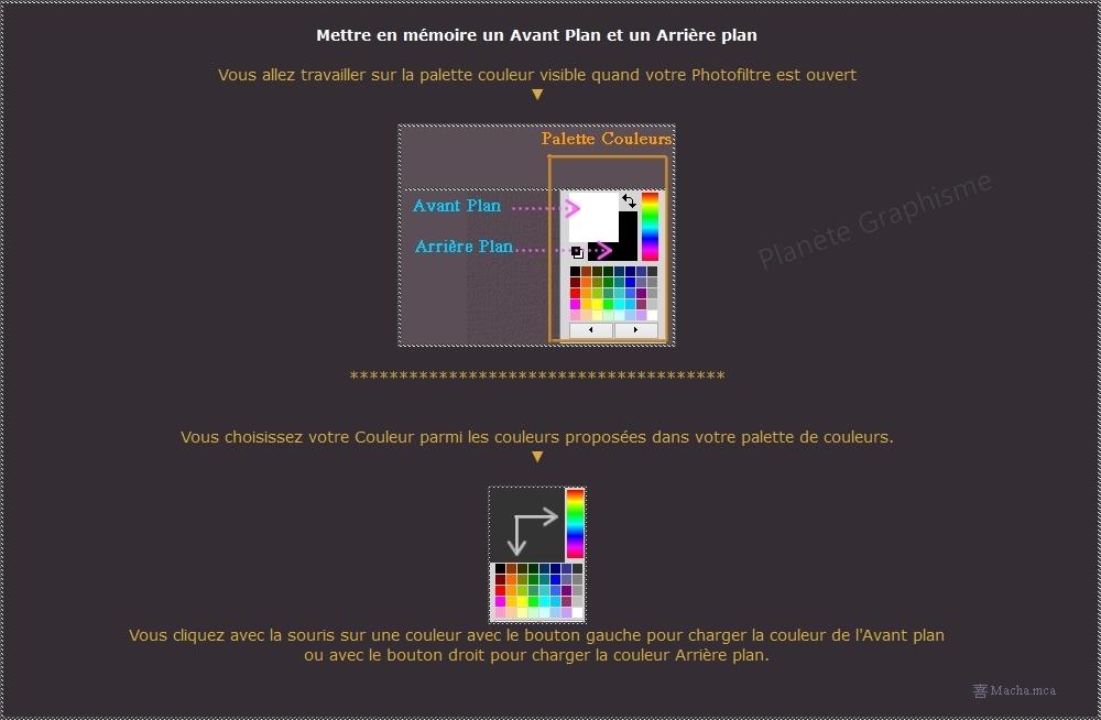 Mettre en mémoire un Avant Plan et un Arrière plan avec Photofiltre Couleu10