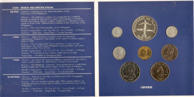 Coins for sale: For the benefit of a Typhoon Ondoy victim 1983-510