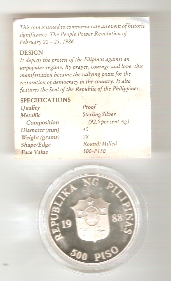 Coins for sale: For the benefit of a Typhoon Ondoy victim People13