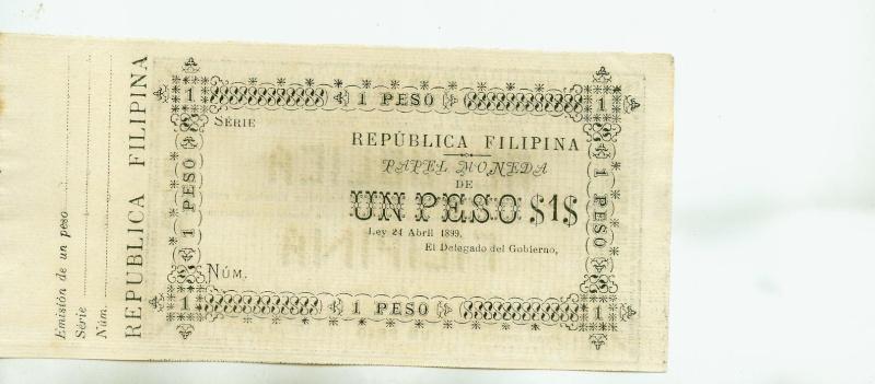 1899 Republica Filipina (Aguinaldo) Un Peso Unpeso10