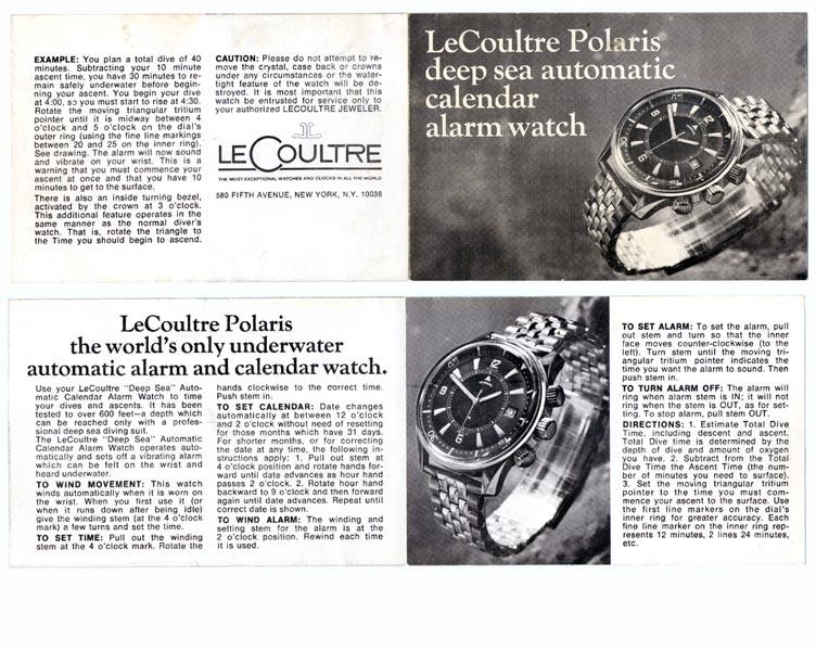mother of all partie XVIII (la saga des montres de plongée : Jaeger lecoultre Polaris) 142510