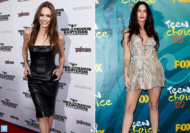 Duelo de estilos: Angelina Jolie vs. Megan Fox Angiev10