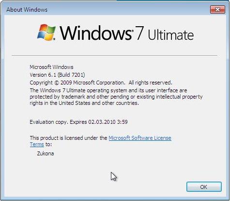 أحدث نسخة ويندوز سفن Microsoft Windows 7 Build 7201 نسخه اصليه مضاف اليها اخر التحديثات الرسميه من مايكروسوفت بحجم 2.35 GB وعلى اكثر من سيرفر 217
