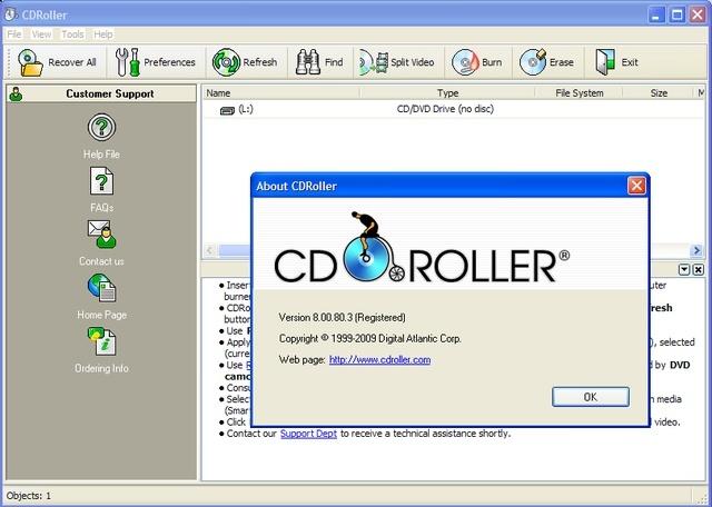 برنامج رائع لإستخلاص البيانات من السيديهات المعطوبه والتالفه CDRoller 8.00.80.3 219