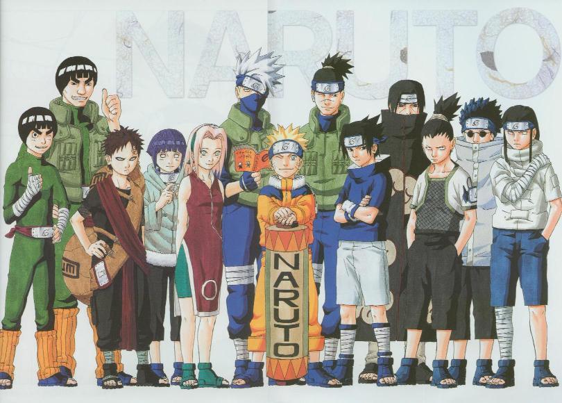 Organização das equipes de Konoha Naruto11