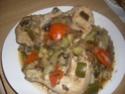 poulet en morceaux aux légumes. Poulet18