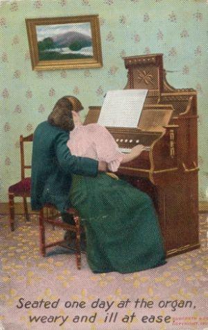Cartes postales d'harmoniums et de reed organ Amoure10