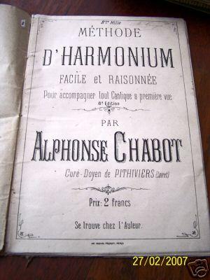 Inventaire des méthodes d'harmoniums C075_110