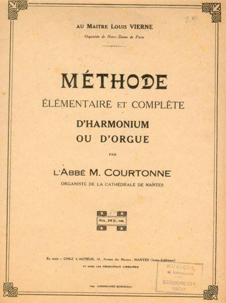 Inventaire des méthodes d'harmoniums Courto10