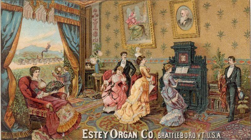 Cartes postales d'harmoniums et de reed organ Estey_11