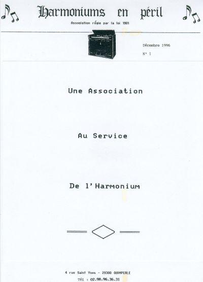 """Bulletins annuels de l'association """" Harmoniums en péril """" Hep_110"""