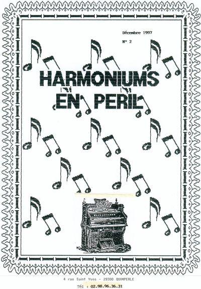 """Bulletins annuels de l'association """" Harmoniums en péril """" Hep_210"""