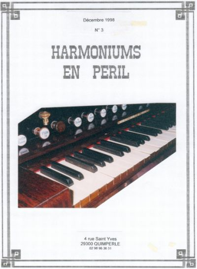 "Bulletins annuels de l'association "" Harmoniums en péril "" Hep_310"