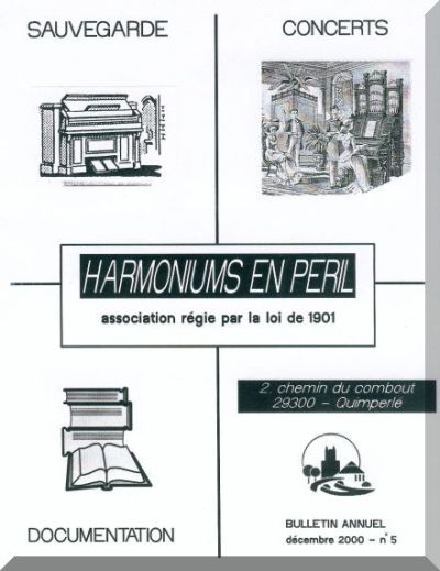 "Bulletins annuels de l'association "" Harmoniums en péril "" Hep_510"