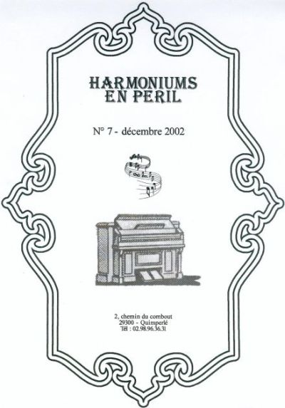 "Bulletins annuels de l'association "" Harmoniums en péril "" Hep_710"