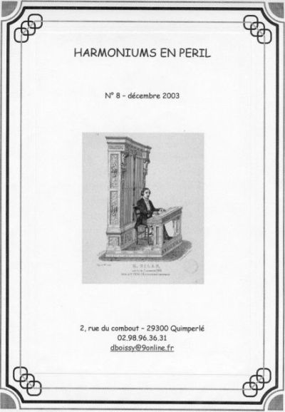 "Bulletins annuels de l'association "" Harmoniums en péril "" Hep_810"
