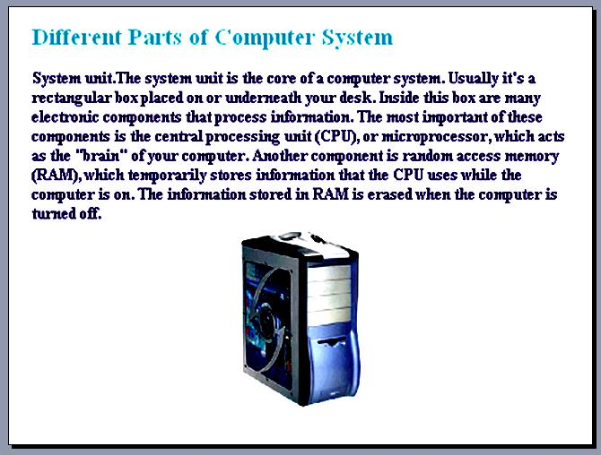 COMPUTER LITERACY 101 Cpu10