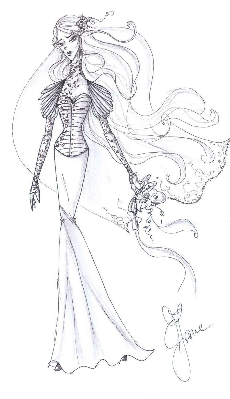 [Breaking Dawn - Part1] La Robe de mariée de Bella (Spoilers) Eliz-j11