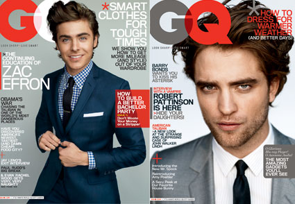Rob en couverture du GQ d'avril 2009 425_ad10