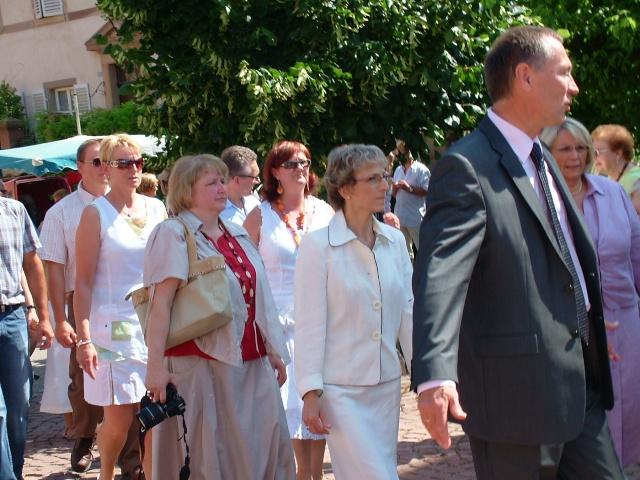 Jean-Marie et Marie-Odile Bockel à la fête de la fontaine de Wangen le 5 juillet 2009 Dscf3414