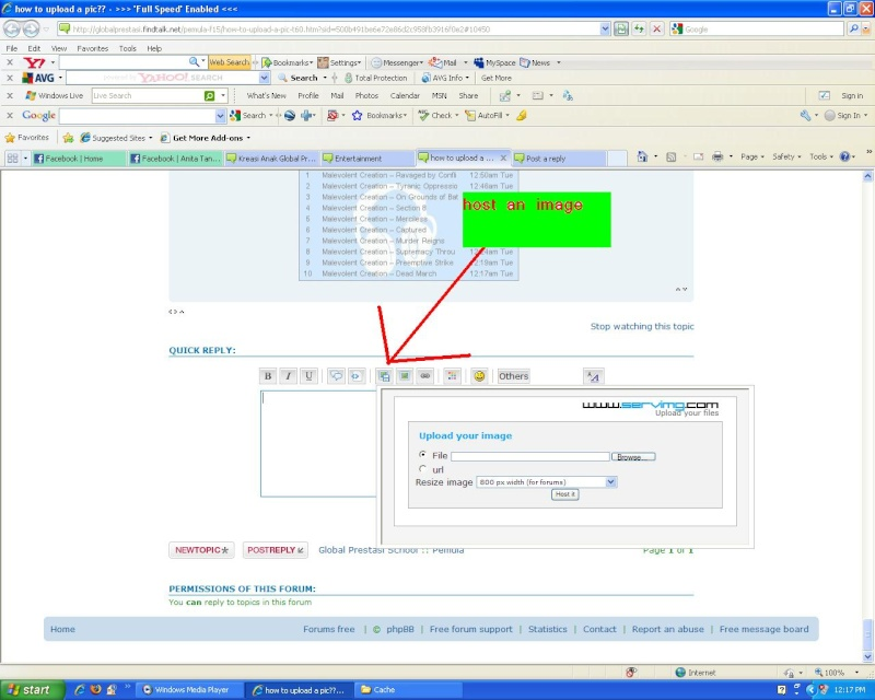 how to upload a pic?? Host10