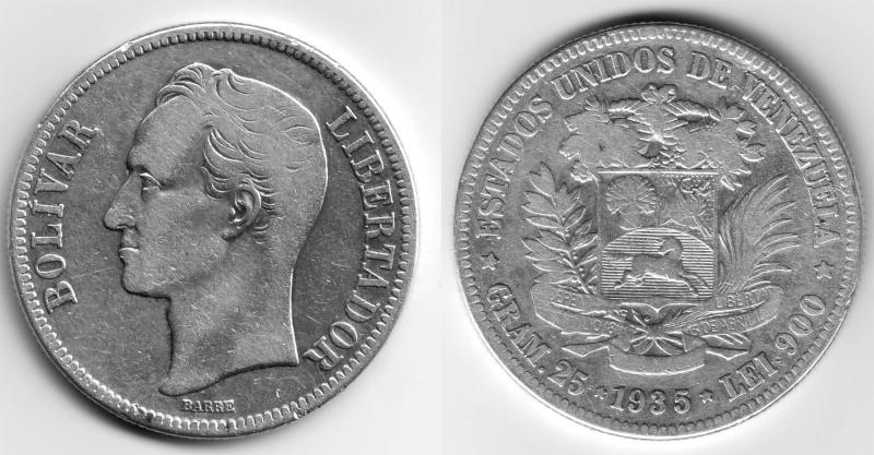 Un bolívar de Venezuela, 1960 Boliva10