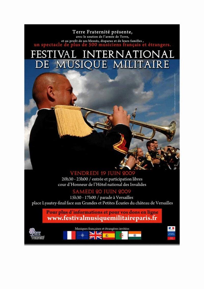 Festival International de Musique Militaire Paris 2009 Affich15