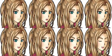 Character des personnages de présentation de vx Face7710