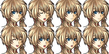 Character des personnages de présentation de vx Face7712