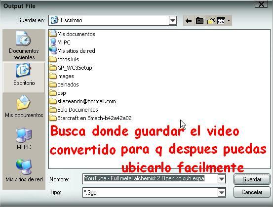 Convierte Videos 3gp Para tu Celular Foto_410