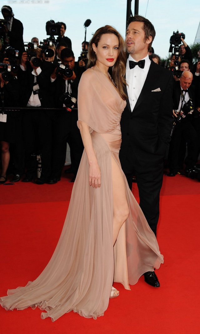 Brad and Angelina Movie Premieres  12428511
