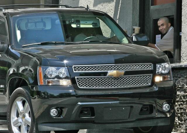 Brad And Angelina Ordering Food At A McDonald's Drive-Thru In Hollywood Brad-p15