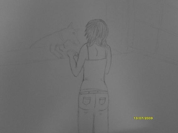 une fille et un chien (dessin en cours, besoin de conseils) Forum_19