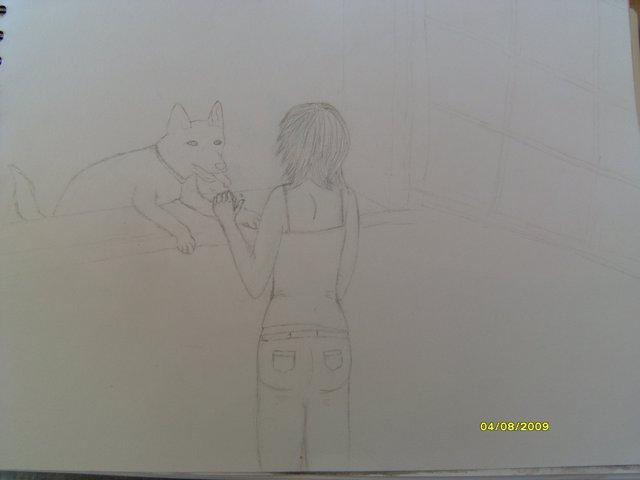 une fille et un chien (dessin en cours, besoin de conseils) Sl740010