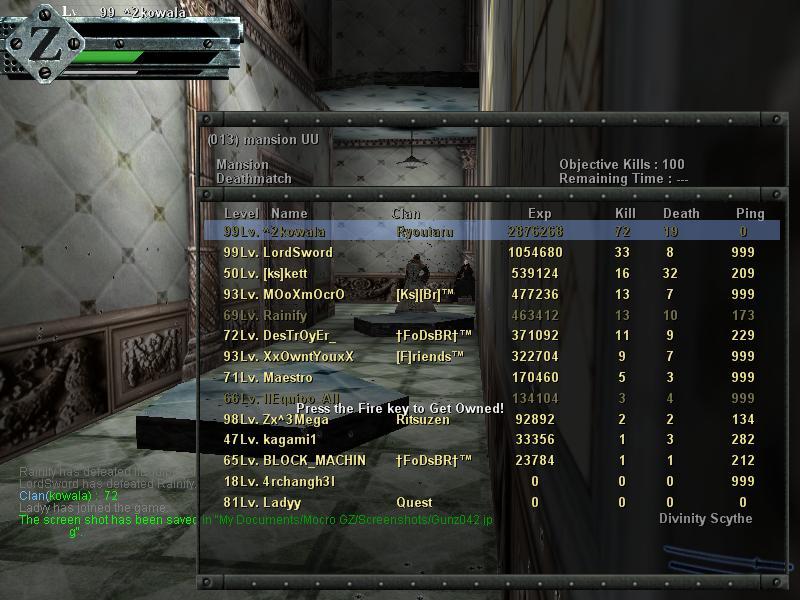 My Beast Score And My Beast Friend [ZORRO] :p Gunz0410