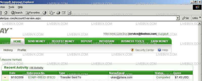 Premium Member Payout for August 2009 : user Kunkun Pp-1-110