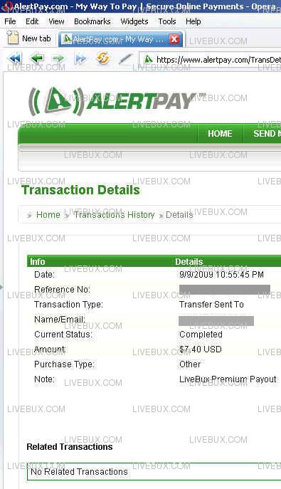 Livebux.com September Payout Started Pp-110